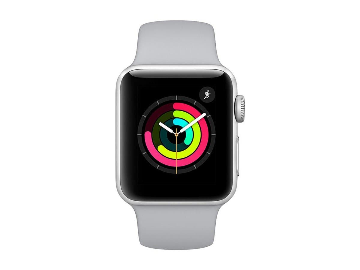 Apple Watch Series 3 GPS, 38mm Silver Aluminum Case with Fog Sport Band-Large-Image-1