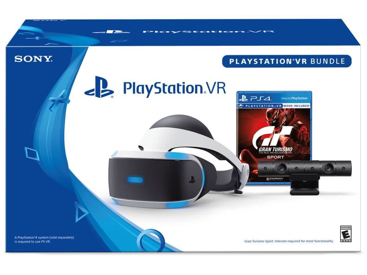 Sony PlayStation VR PSVR Gran Turismo Sport Bundle For The PS4 Headset