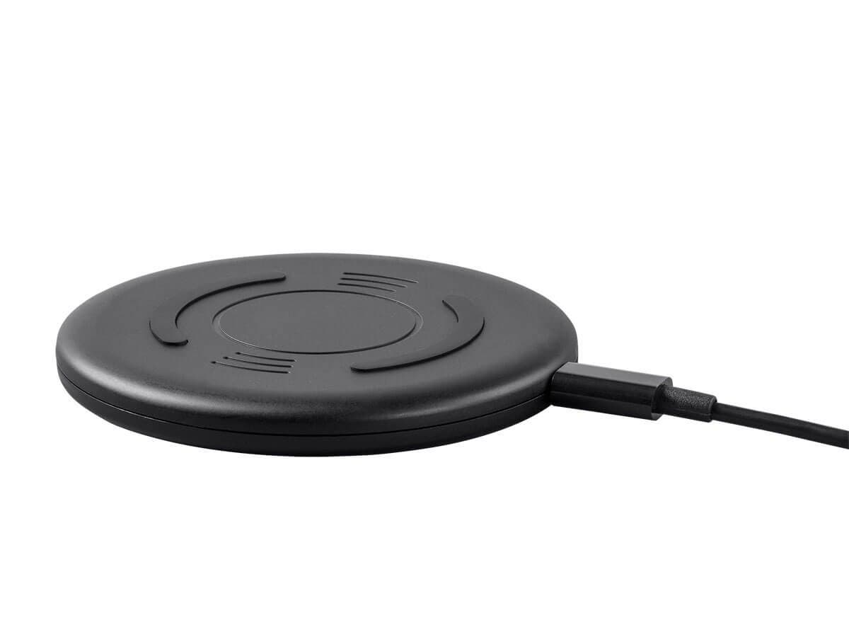 Monoprice Wireless Charger, 1A, Qi Compatible, Black-Large-Image-1
