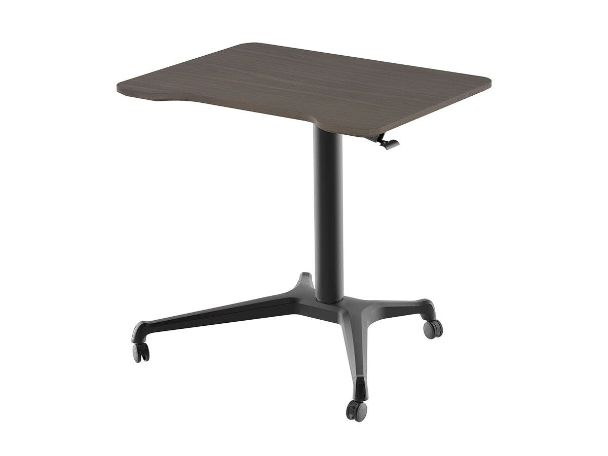 Workstream by Monoprice Gas-Lift Height Adjustable Sit-Stand Rolling Laptop Desk, Dark Walnut - main image