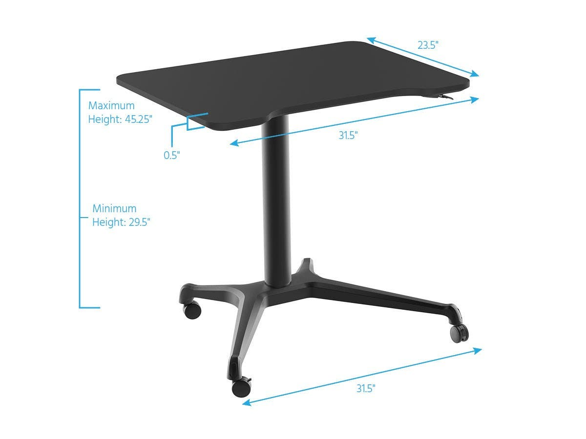 furniture pin rolling storage with standup option cart stand desk up laptop
