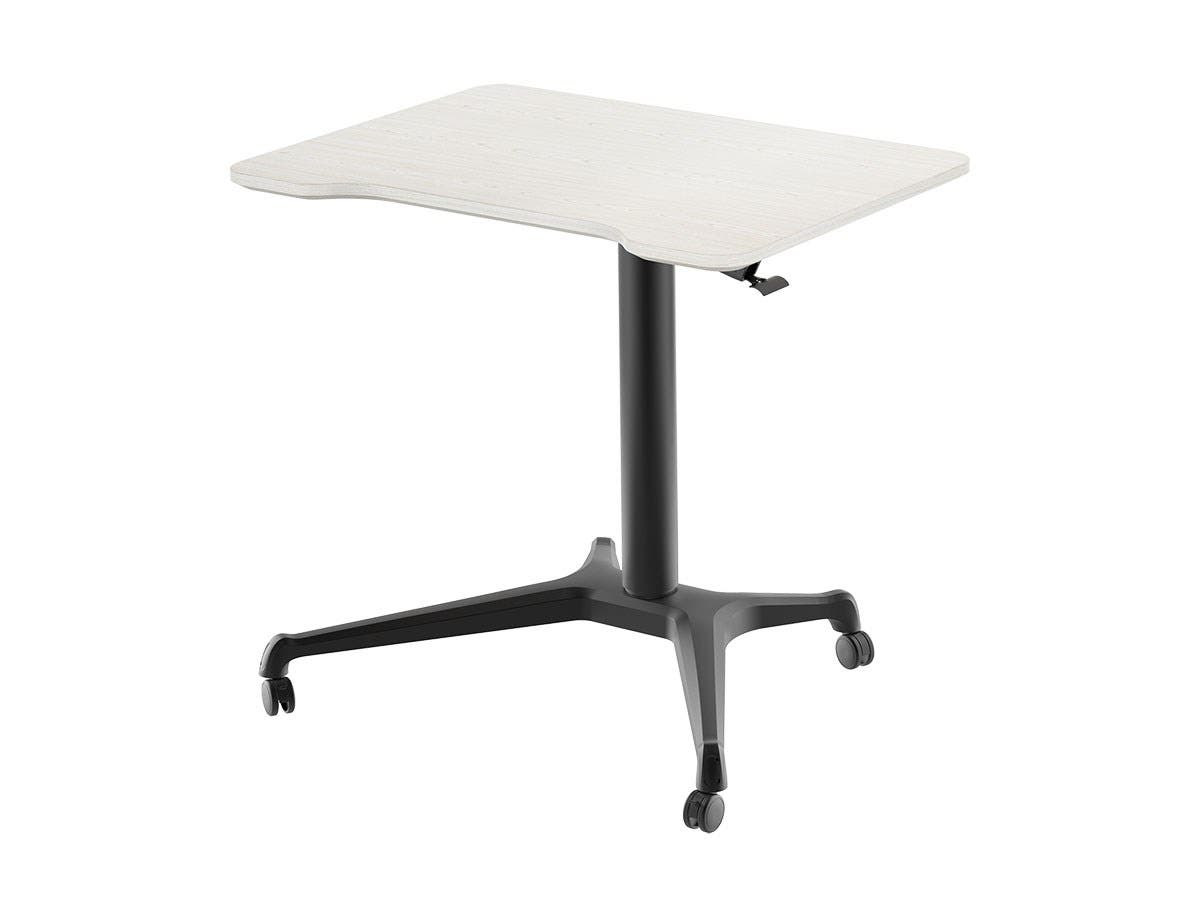 Workstream By Mono Gas Lift Height Adjule Sit Stand Rolling Laptop Desk Light
