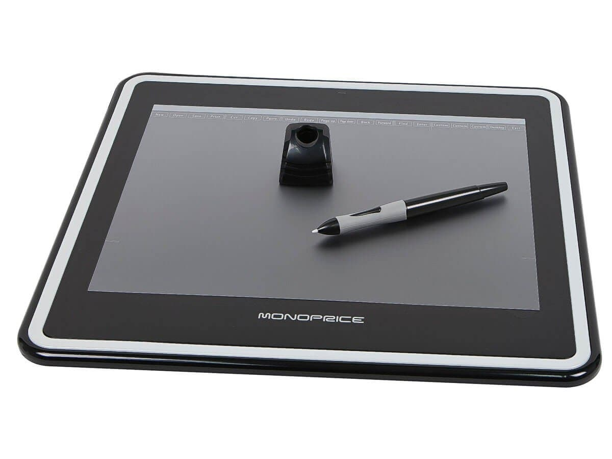 Monoprice 12x9in Graphic Drawing Tablet with 4000LPI 200RPS and 1024 Pressure Levels (Open Box)-Large-Image-1