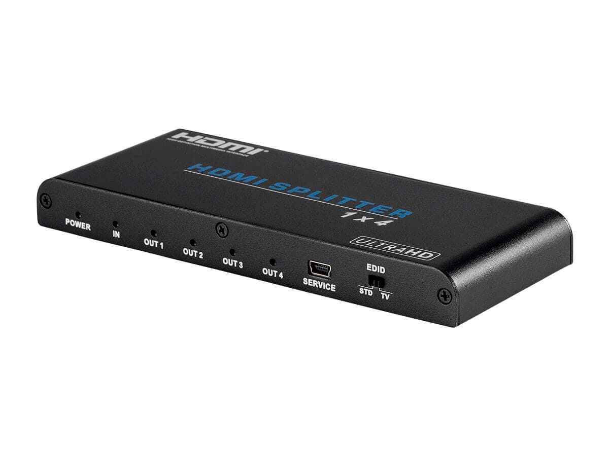 Monoprice Blackbird 4K Pro 1x4 HDMI Splitter with HDCP 2.2 and EDID Support (Open Box)-Large-Image-1