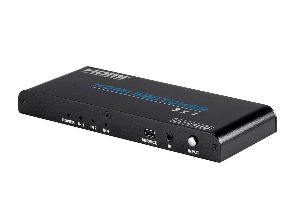 Monoprice Blackbird 4K Pro 3x1 HDMI Switch with HDCP 2.2 Support (Open Box)-Large-Image-1