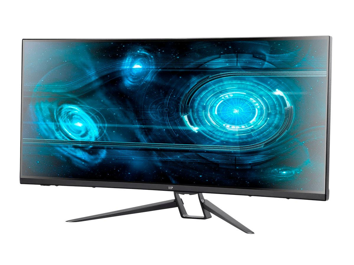 Monoprice MP 35in Zero-G Curved FreeSync 100Hz 1440p UWQHD Monitor-Large-Image-1