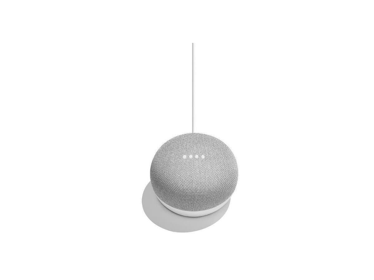 Google - Home Mini - Chalk GA00210-US personal home assistant digital media streamer-Large-Image-1