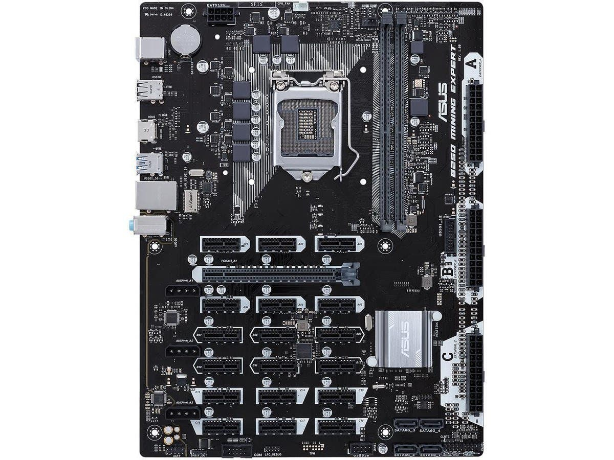 ASUS B250 MINING EXPERT LGA 1151 Intel B250 HDMI SATA 6Gb/s USB 3.1 ATX Intel Motherboard-Large-Image-1