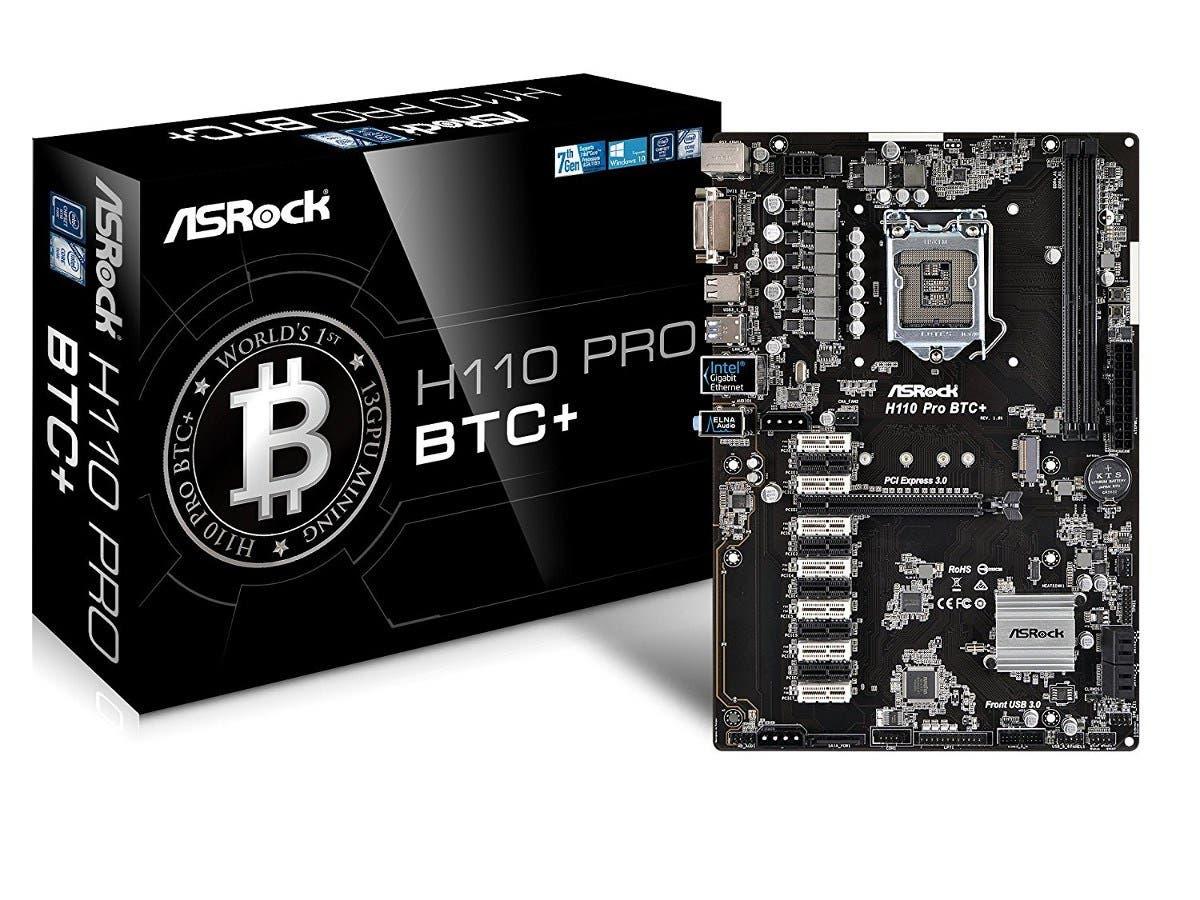ASRock H110 Pro BTC+ 13GPU Mining Motherboard CryptoCurrency-Large-Image-1