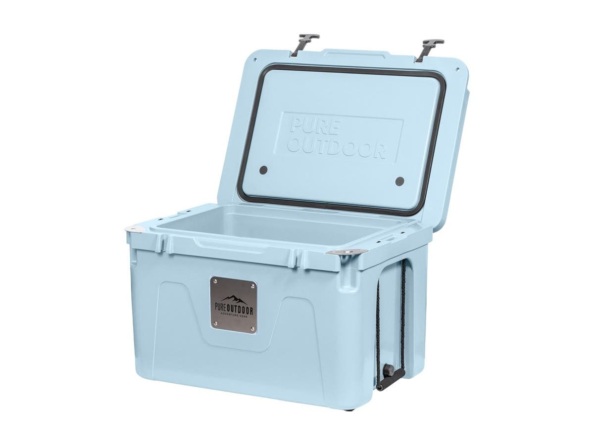 Pure Outdoor by Monoprice Emperor 25 6.6 Gal. Rotomolded Portable Cooler, Blue - main image