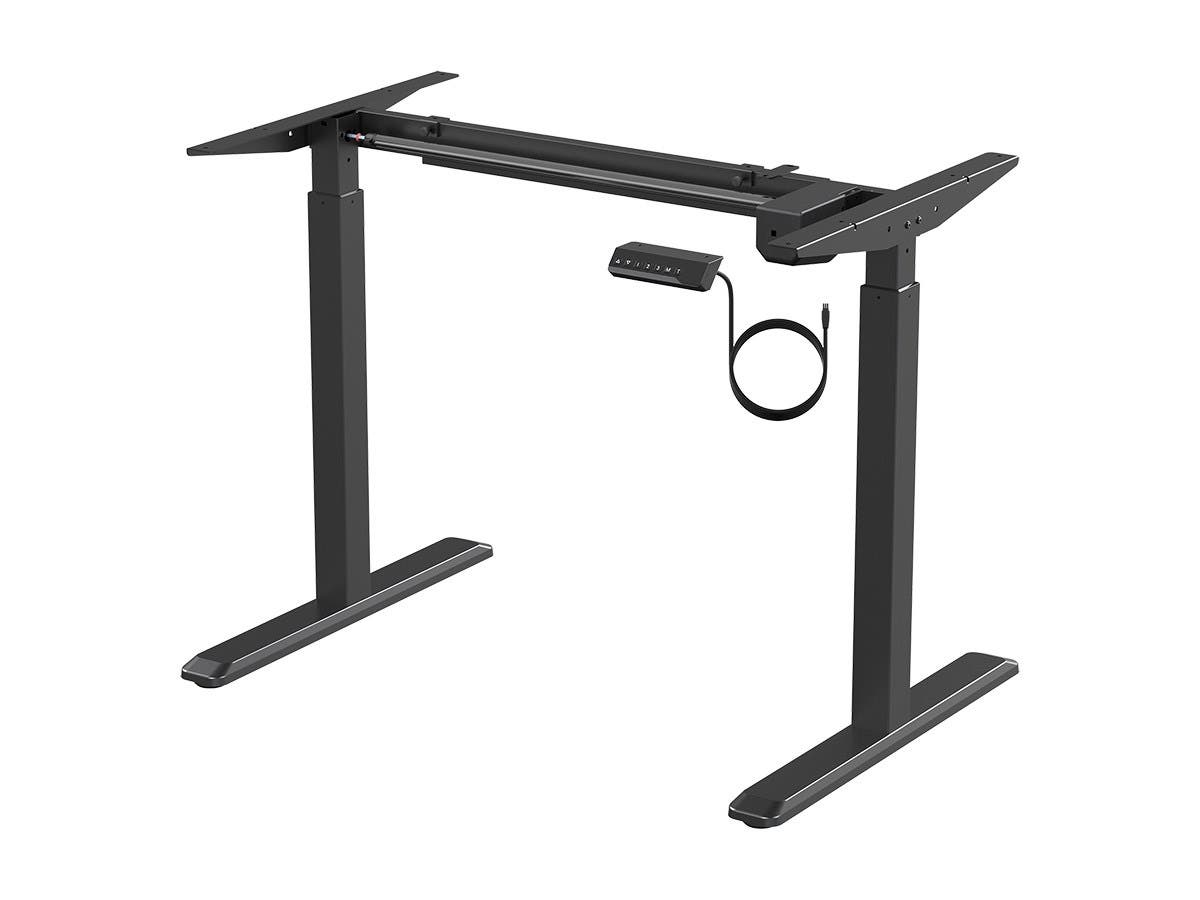 Workstream by Monoprice Sit-Stand Single Motor Height Adjustable Table Desk Frame, Electric, Black-Large-Image-1