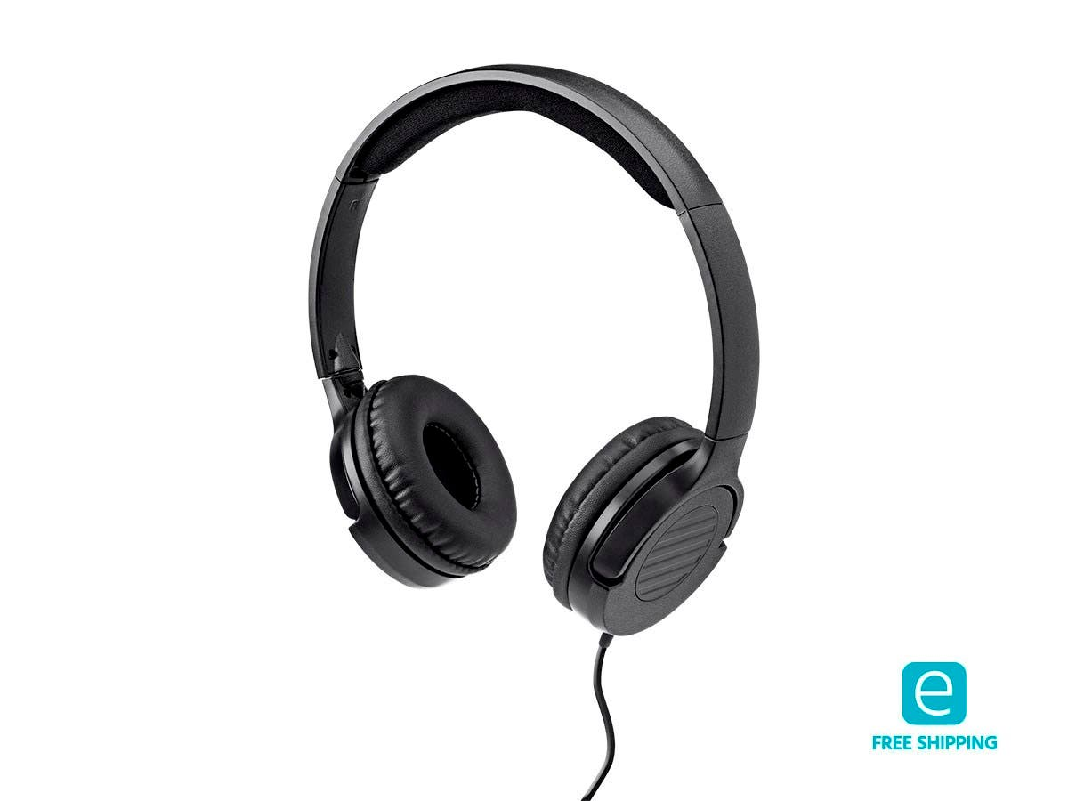 Monoprice Essentials Hi-Fi Lightweight On-Ear Headphones-Large-Image-1