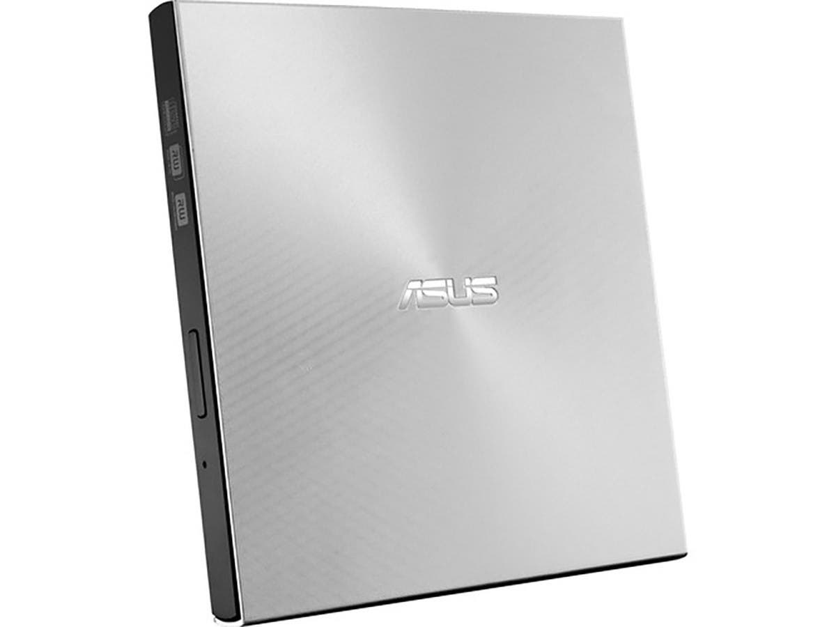 ASUS 13mm External DVD Writer, Compatible with USB 2.0 and Type-C for both Mac/PC - SDRW-08U9M-U/SIL-Large-Image-1