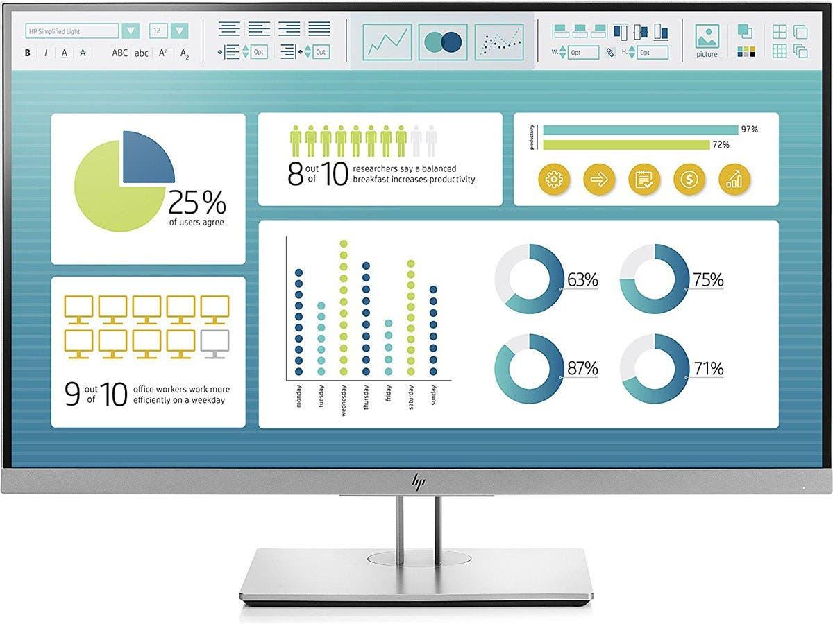 "HP EliteDisplay E273 - LED monitor - Full HD (1080p) - 27"" - Smart Buy - 1FH50A8#ABA-Large-Image-1"