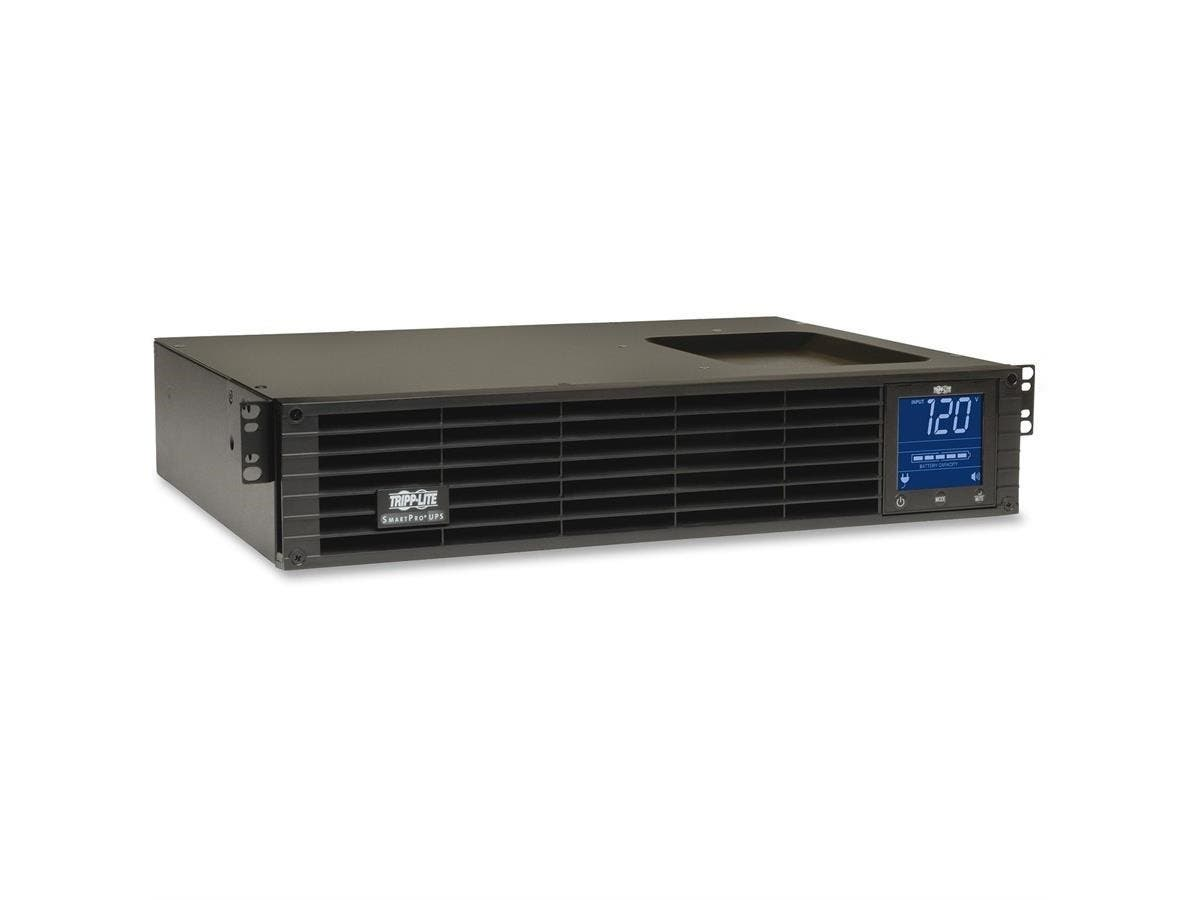 Tripp Lite UPS Smart 1500VA 1000W LCD Pure Sine Wave AVR USB 2URM - 1500 VA/1000 W - 120 V AC - 6.50 Minute - 2U Tower/Rack Mountable - 6.50 Minute - 8 x NEMA 5-15R - Brownout, Over Voltage, Surge, Bl-Large-Image-1