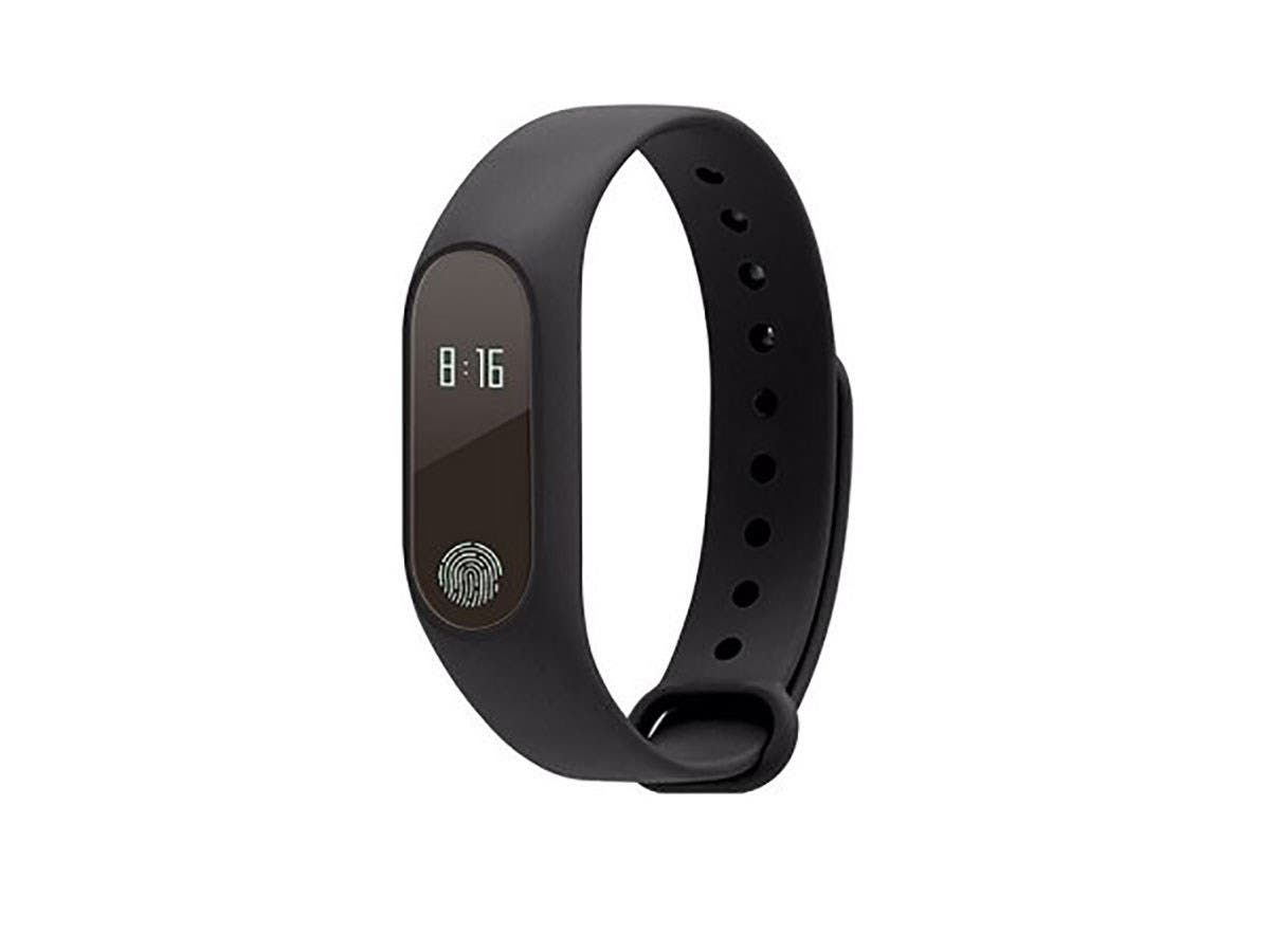 MyePads M2 Smart Fitness Tracker Wristband - Black - M2-BAND-BLK-Large-Image-1