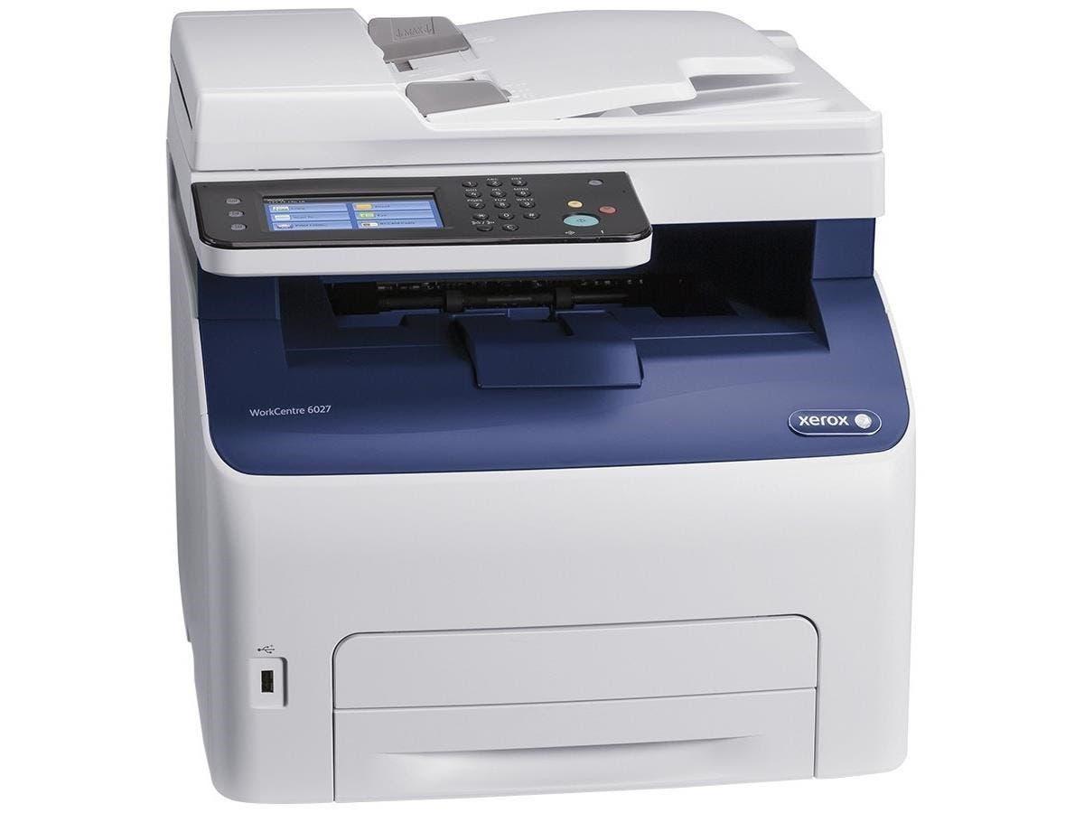 Xerox WorkCentre 6027/NI LED Multifunction Printer - Color - Plain Paper Print - Desktop - Copier/Fax/Printer/Scanner - 18 ppm Mono/18 ppm Color Print (132798) photo
