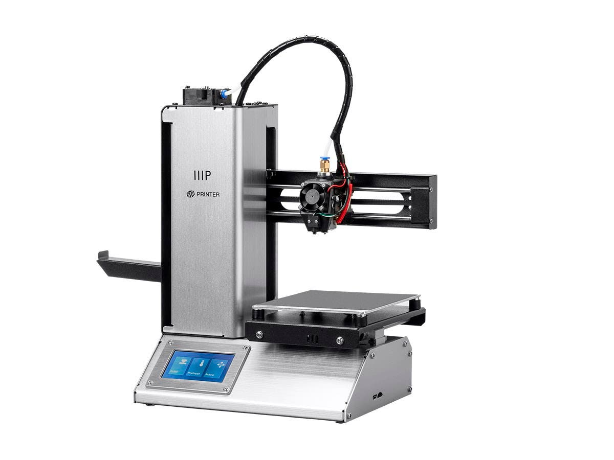 Monoprice MP Select Mini Pro 3D Printer, Aluminum with Auto Leveling, Heated Removable Bed, Touch Screen, and Wi-Fi-Large-Image-1