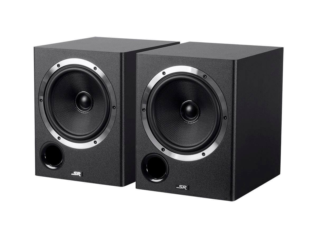 Monoprice 6.5in Powered Coaxial Studio Multimedia Monitor Speakers (pair) (Open Box)-Large-Image-1