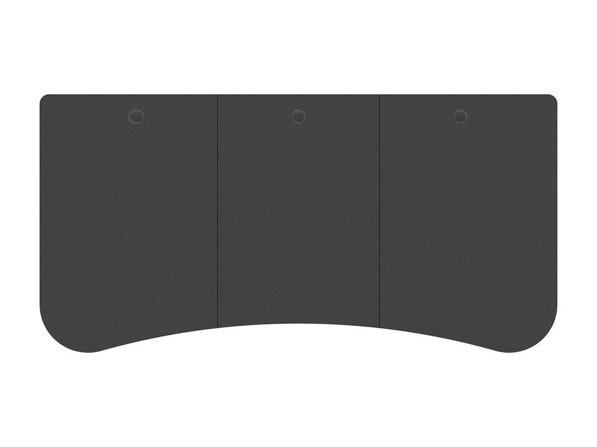 Workstream by Monoprice 3-piece Desktop for Motorized and Manual-Crank Height Adjustable Desks, Black - main image