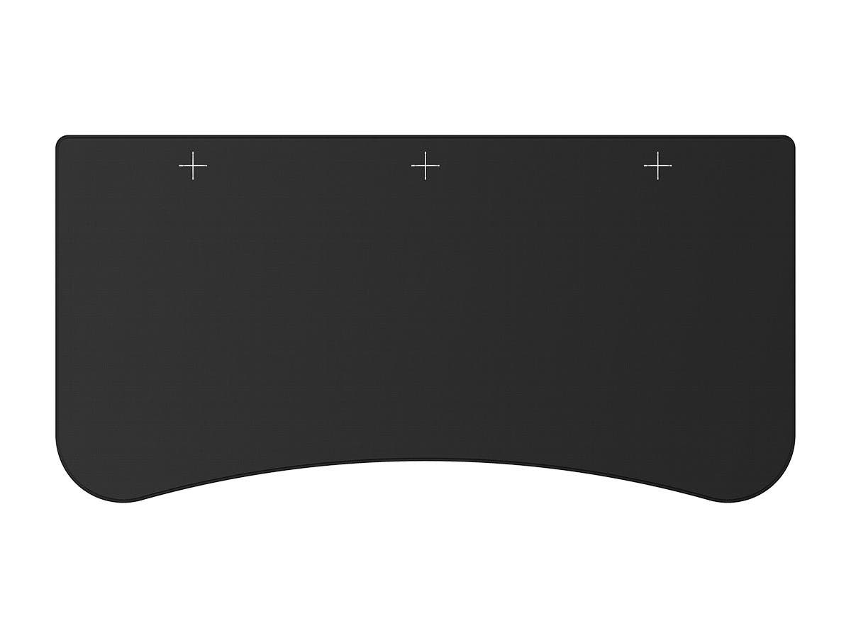 Workstream by Monoprice Whole-Desk Mouse Pad For 3-Piece 5ft Desktop, Black-Large-Image-1