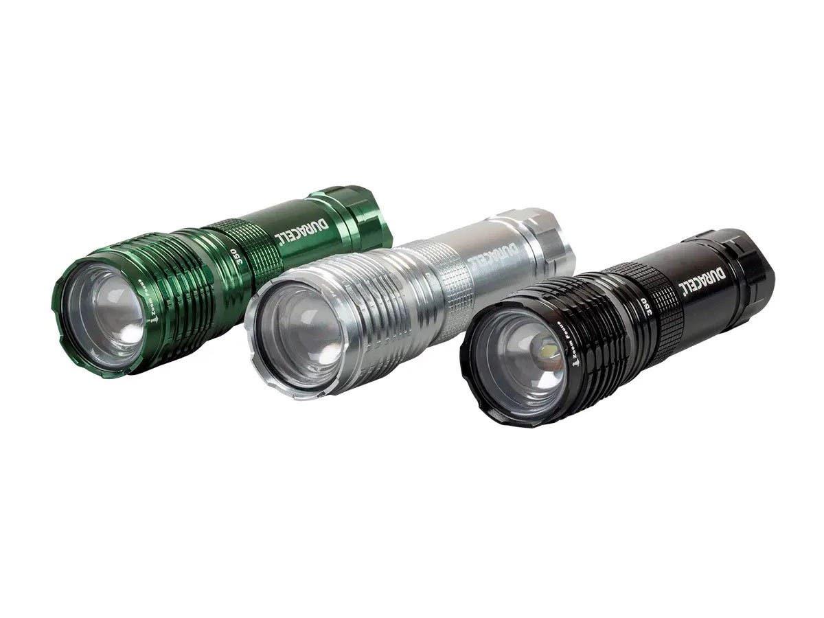 Duracell 350 Lumen Flashlight with Zoom, 4AAA (Batteries