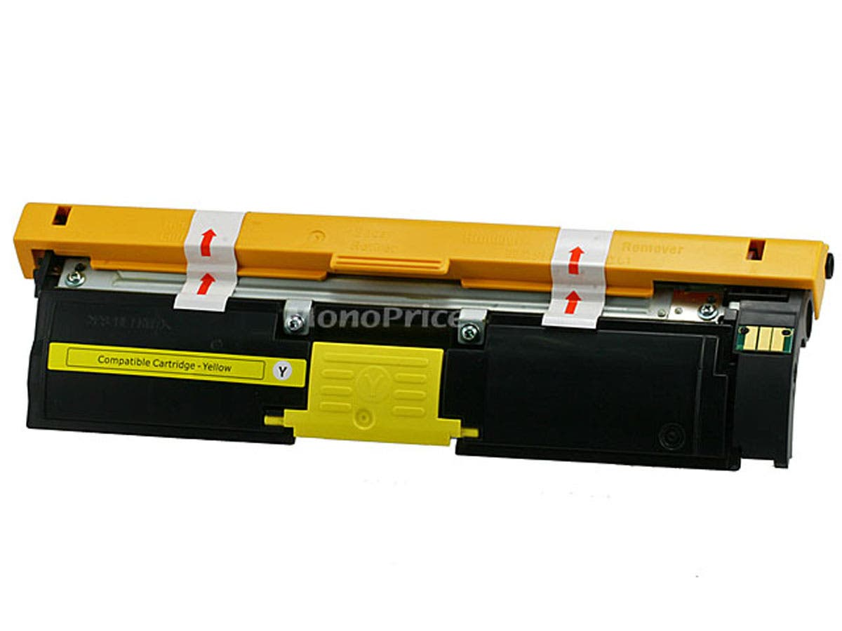 Monoprice 113R00694 Remanufactured Laser Toner Cartridge for XEROX Phaser 6120 (Yellow) printers-Large-Image-1