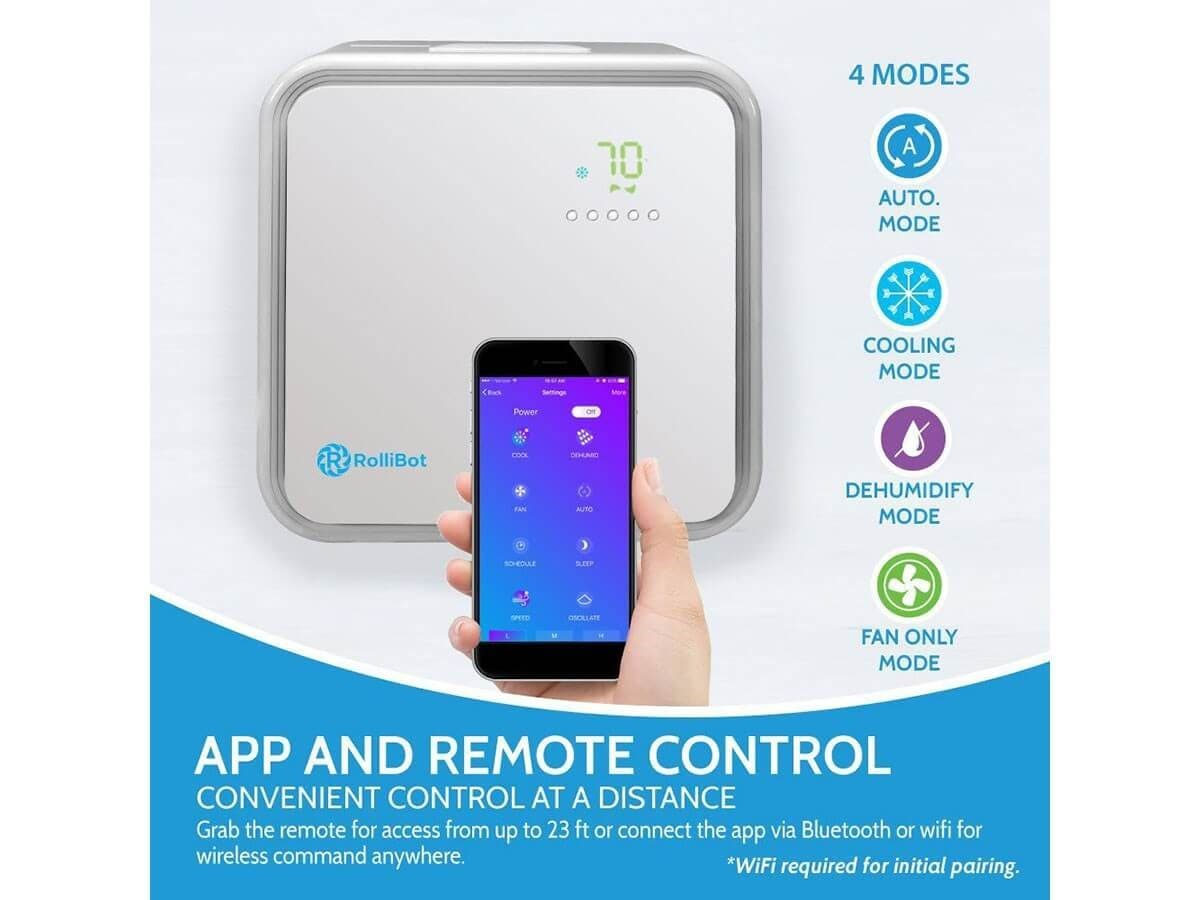 Rollicool Ductless Mini Split Air Conditioner 42db Ultra Quiet View Mobile Dvr With Shock Sensor And Wifi Ptz Controller Adapter 10000 Btu Ac Open Box