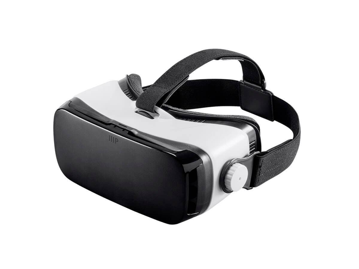 Monoprice MP VR Viewer Mobile 3D HMD with IPD Adjustment - Compatible with phones up to 6 in White (Open Box)-Large-Image-1