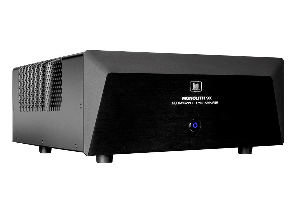 Monolith by Monoprice 9 Channel (3x200 Watts + 6x100 Watts) Multi-Channel Home Theater Power Amplifier with XLR Inputs-Large-Image-1