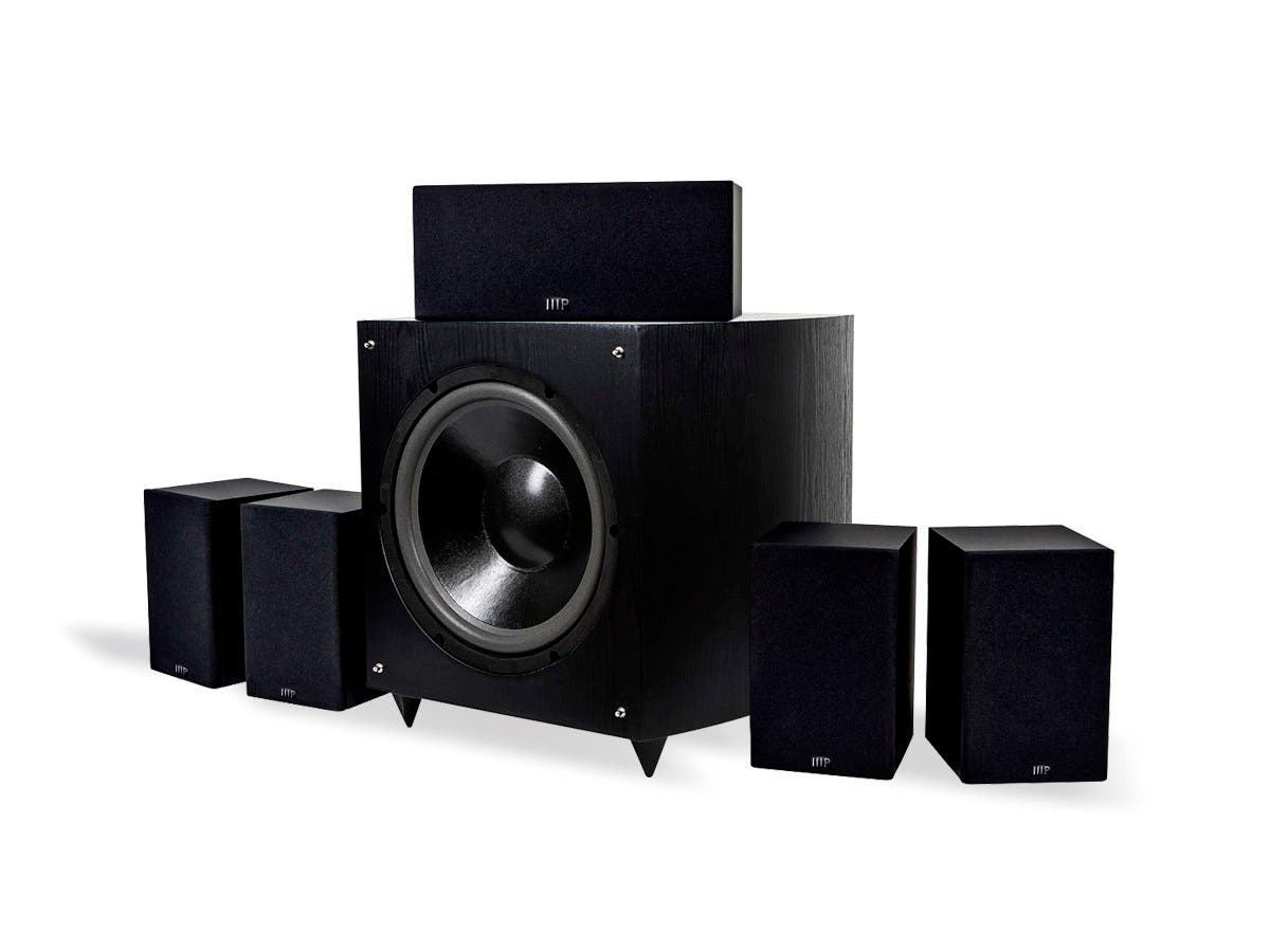 Monoprice Premium 5.1 Channel Home Theater Speaker System with 12in Subwoofer (9723)-Large-Image-1