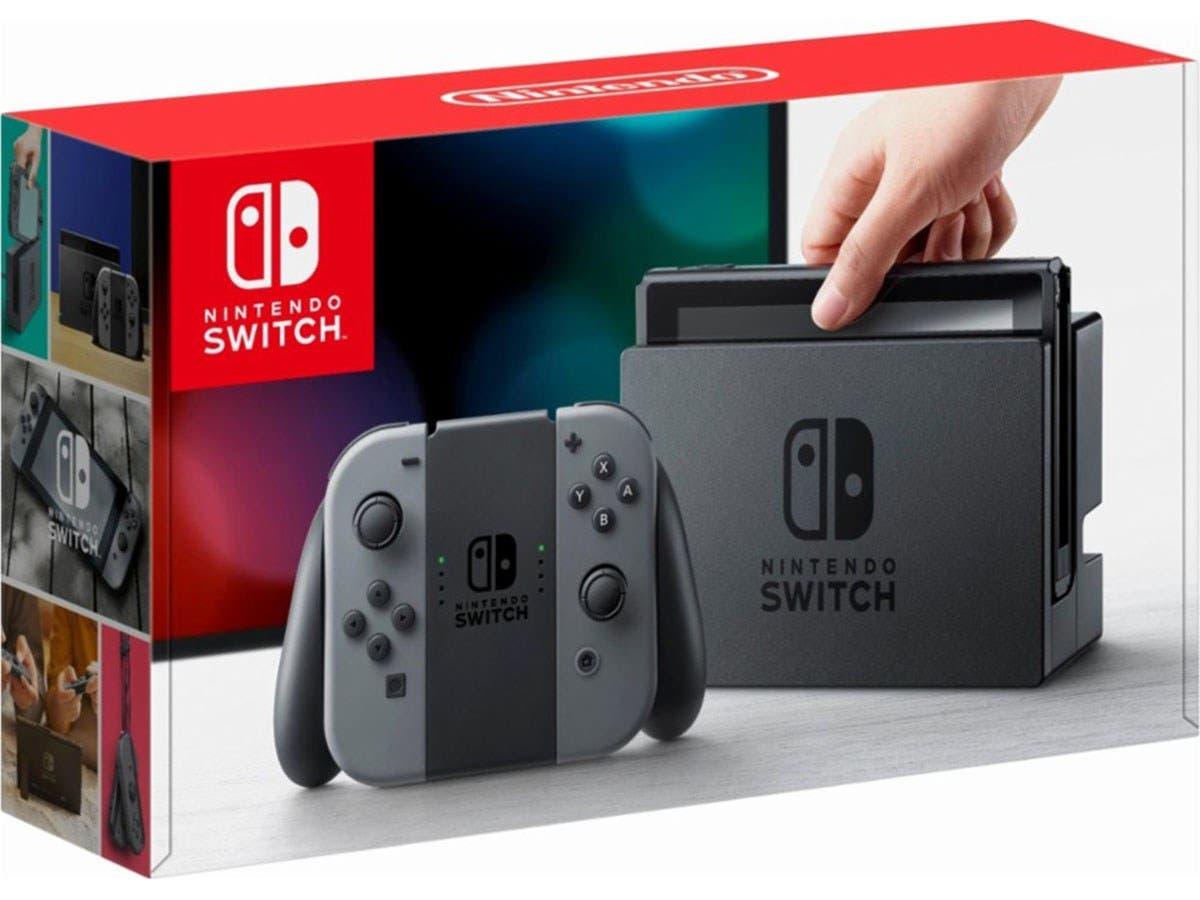 Nintendo Switch 32GB with Gray Joy-Con-Large-Image-1