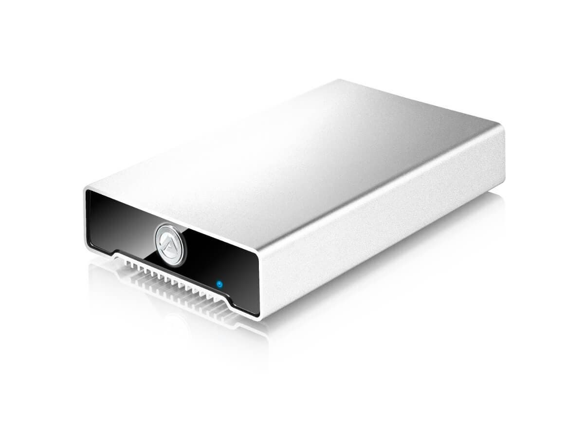 "AKiTiO Neutrino U3.1, 3.1 USB-C Gen 2 Single Bay 2.5"" External Storage Enclosure, 1x USB Type-C 3.1 Port, USB-C to USB-C and USB-C to USB-A Cables Included (Enclosure Only)-Large-Image-1"