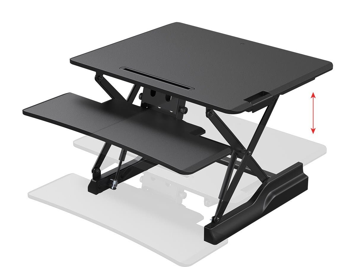 Workstream by Monoprice Full-Size Sit-Stand Workstation Converter, Height Adjustable Desk 30in-Large-Image-1