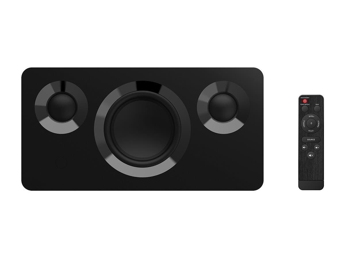 Monoprice Soundstage3 120 Watt True Wireless Stereo (TWS) Bluetooth with aptX Speaker, Black-Large-Image-1