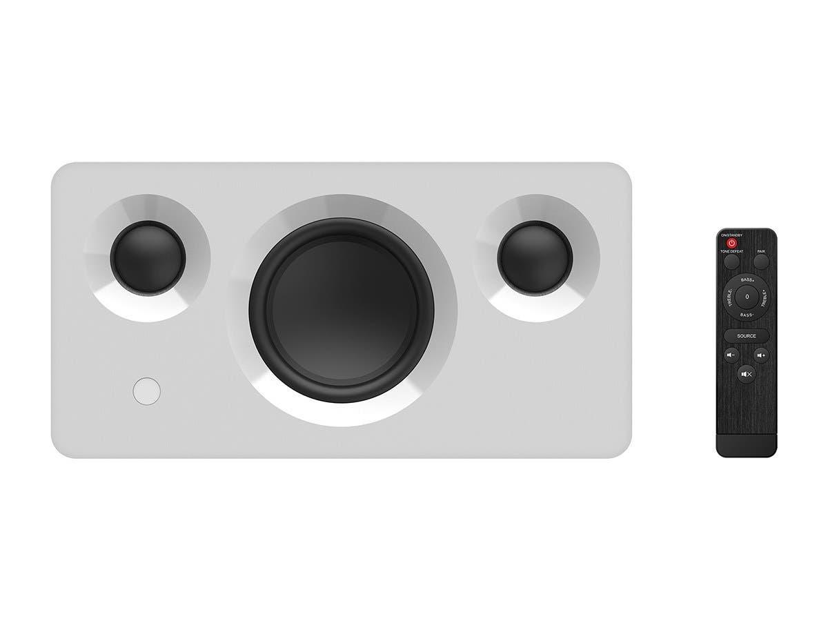 Monoprice Soundstage3 120 Watt TrueWireless Stereo (TWS) Bluetooth Speaker with Qualcomm aptX Audio, White - main image