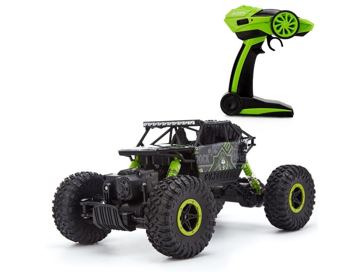 Metakoo Crawler Car Off Road RC Car 4WD 2.4GHz Remote Control Car 1:18 Scale Hobby Car - Green-Large-Image-1