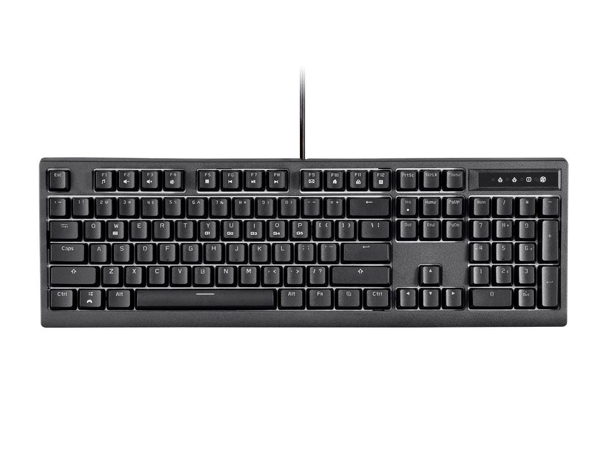 Workstream by Monoprice Brown Switch Full Size Mechanical Keyboard, Black-Large-Image-1