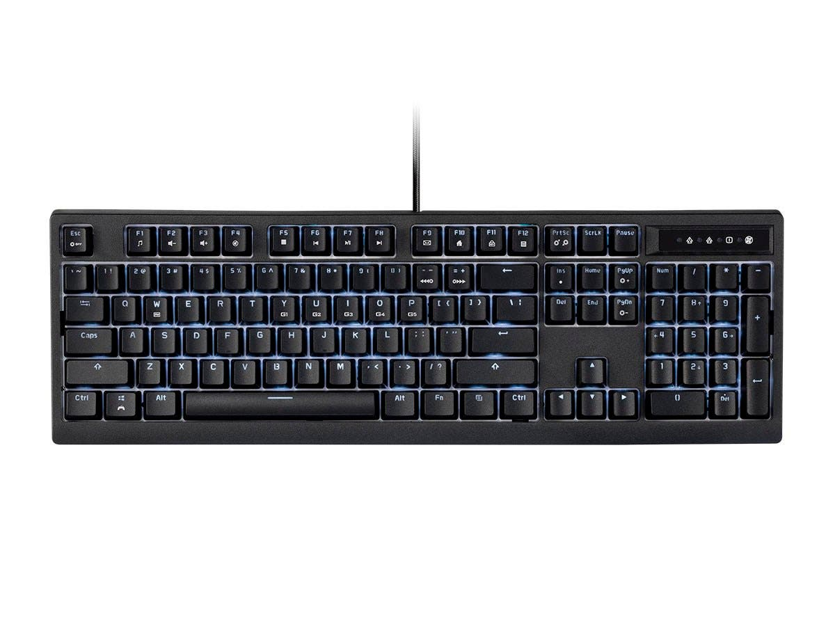 Workstream by Monoprice Brown Switch Full Size Mechanical Keyboard, Black, Backlit-Large-Image-1