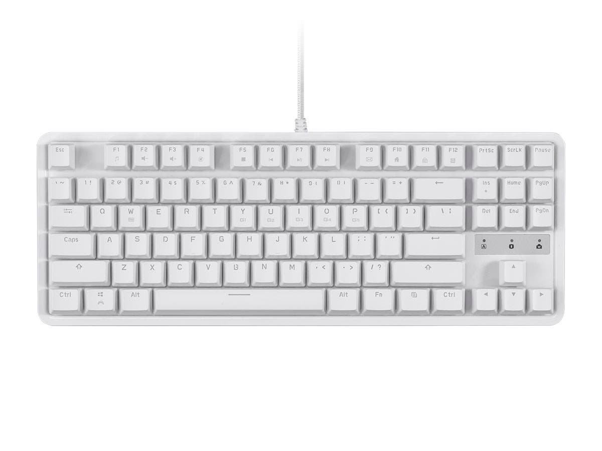 Workstream by Monoprice Brown Switch Tenkeyless Mechanical Keyboard, White-Large-Image-1