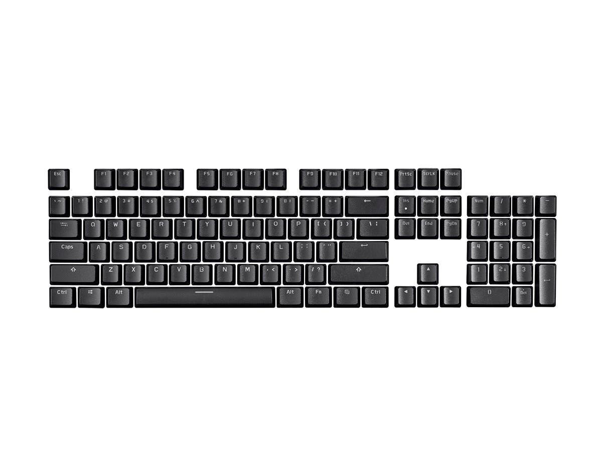 Monoprice Double Shot Keycaps for Workstream Mechanical Keyboards, 104-Key Set, Black-Large-Image-1