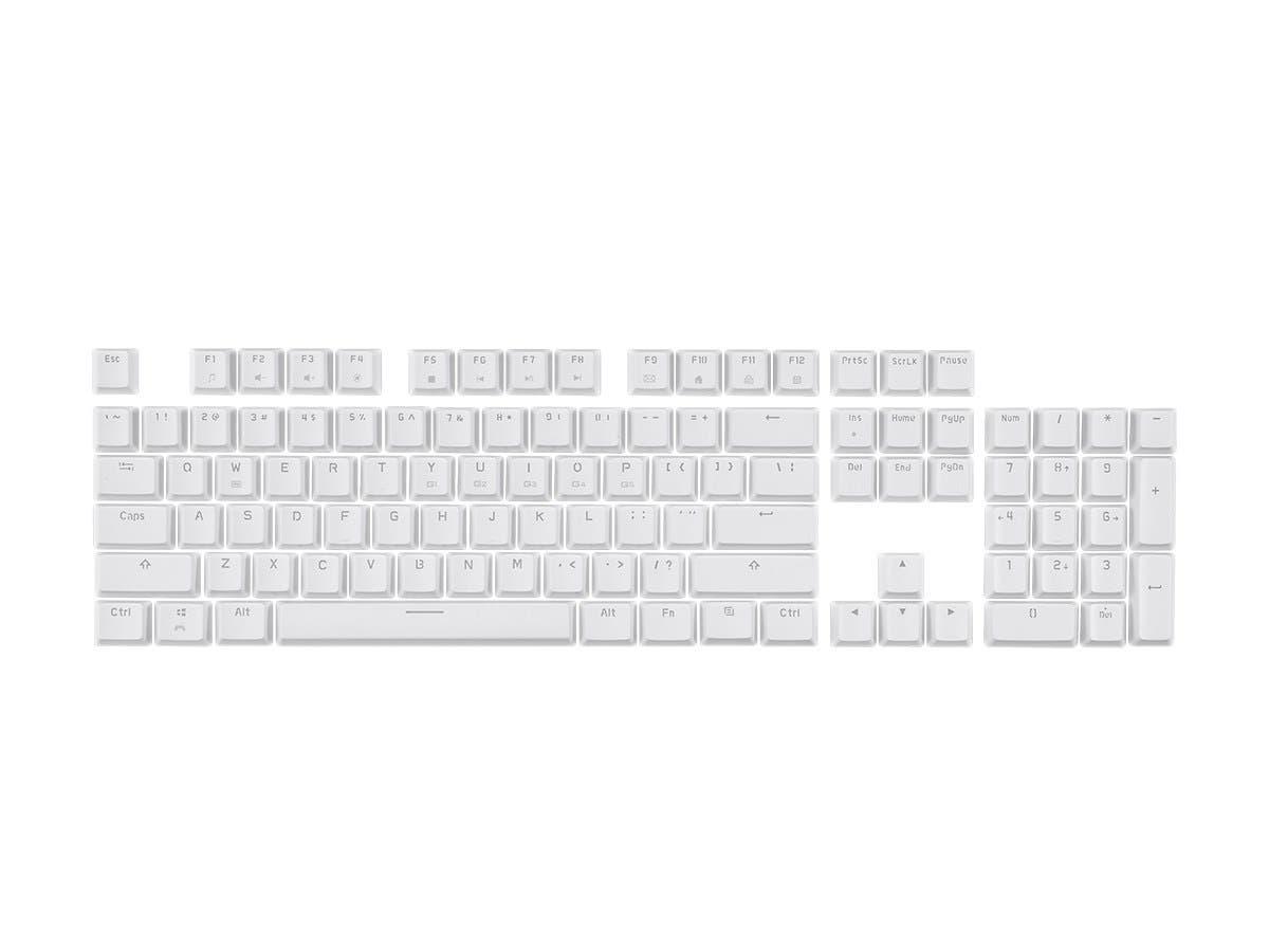 Monoprice Double Shot Keycaps for Workstream Mechanical Keyboards, 104-Key Set, White - main image