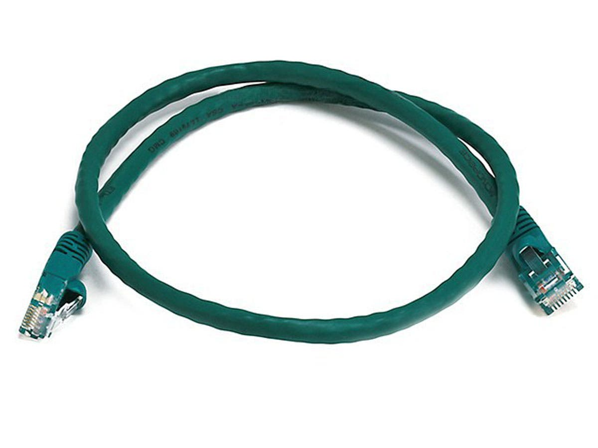 Cat5e 24AWG UTP Ethernet Network Patch Cable, 2ft Green