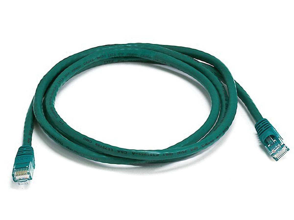 Cat5e 24AWG UTP Ethernet Network Patch Cable, 5ft Green