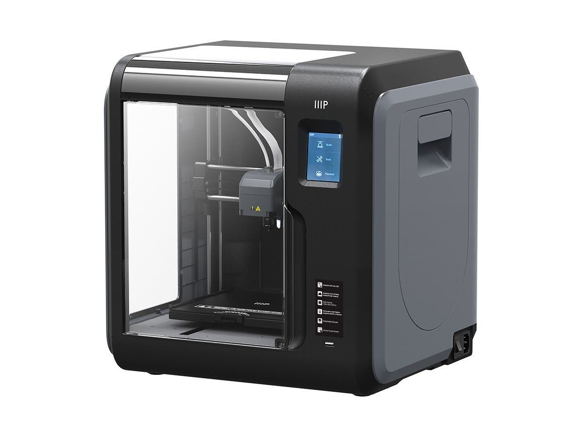 Monoprice MP Voxel 3D Printer, Fully Enclosed, Easy Wi-Fi, Touch Screen, 8GB On-Board Memory, Polar Cloud Enabled-Large-Image-1