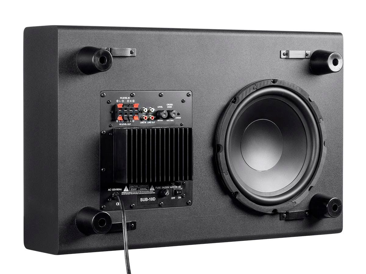 Monoprice Ssw 10 1034 150 Watt Powered Slim Subwoofer Kicker Bass Station Wiring Harness Small