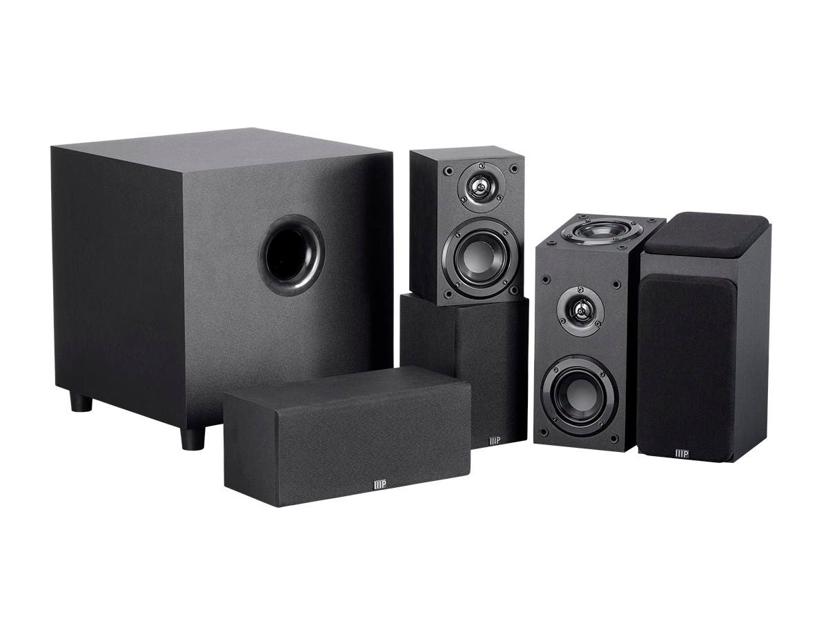 Monoprice Premium 5.1.2 Channel Immersive Home Theater System with Subwoofer-Large-Image-1