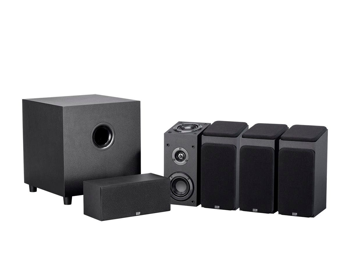 Monoprice Premium 5.1.4 Channel Immersive Home Theater System with Subwoofer-Large-Image-1