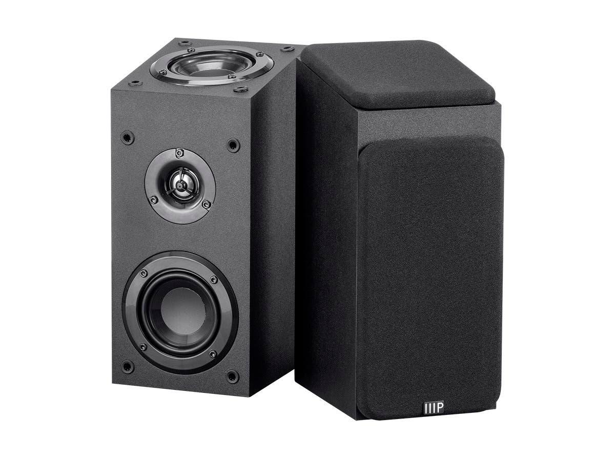Monoprice Premium Immersive Satellite Speakers, Pair-Large-Image-1