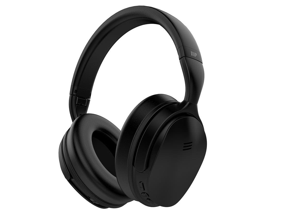 0b40a662ca1 Monoprice BT-300ANC Bluetooth with aptX Wireless Over Ear Headphones with  Active Noise Cancelling (